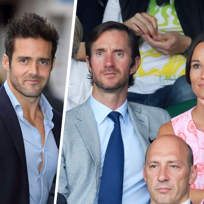 Spencer Matthews and the future bride and groom, brother James Matthews and Pippa Middleton.