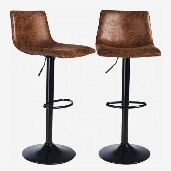DICTAC Vintage Look Swivel Bar Stools