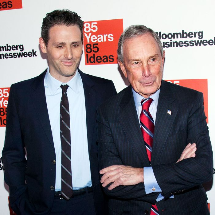 Josh Tyrangiel and Michael Bloomberg attend the