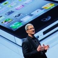 Apple Chief Operating Officer Tim Cook speaks during the Verizon iPhone announcement January 11, 2011 in New York City.  In a long-anticipated move, Verizon and Apple have announced that Apple's popular iPhone mobile phone will be offered on a Verizon's phone network.