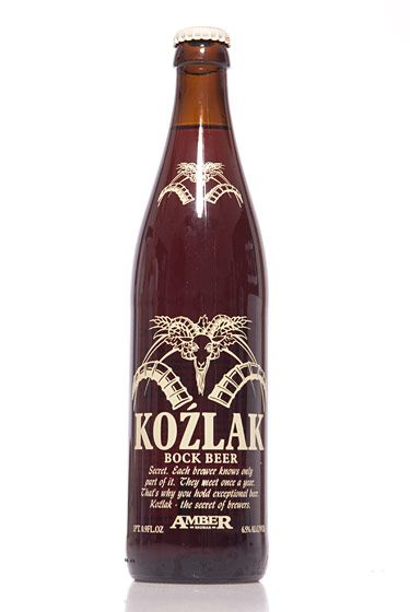 "Browar Amber (Poland)<br>$2.39 for 16.9 oz. <br><strong>Type:</strong> Bock<br><strong>Tasting notes:</strong> ""A unique, dark amber color. The very best from these Polish brewmasters."" <br>—Richard and John Zawisny, owners, Eagle Provisions<br> <br>"