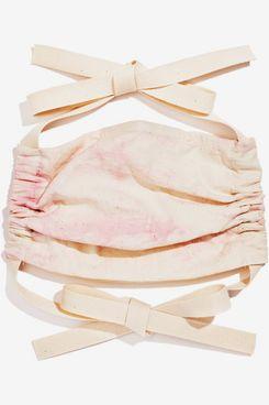 Found My Animal Light Pink Tie Die Mask, Cotton Ribbon Ties