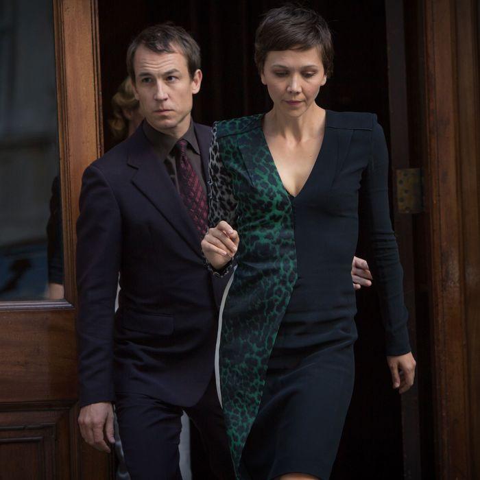 L to R, Tobias Menzies and Maggie Gyllenhaal - in the SundanceTV original series