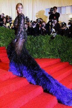 Beyonce at the 2012 Met Gala.