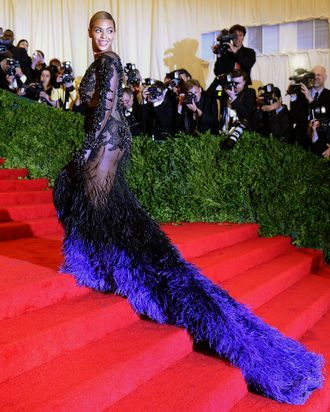 Beyonce at the 2012 Met Gala.