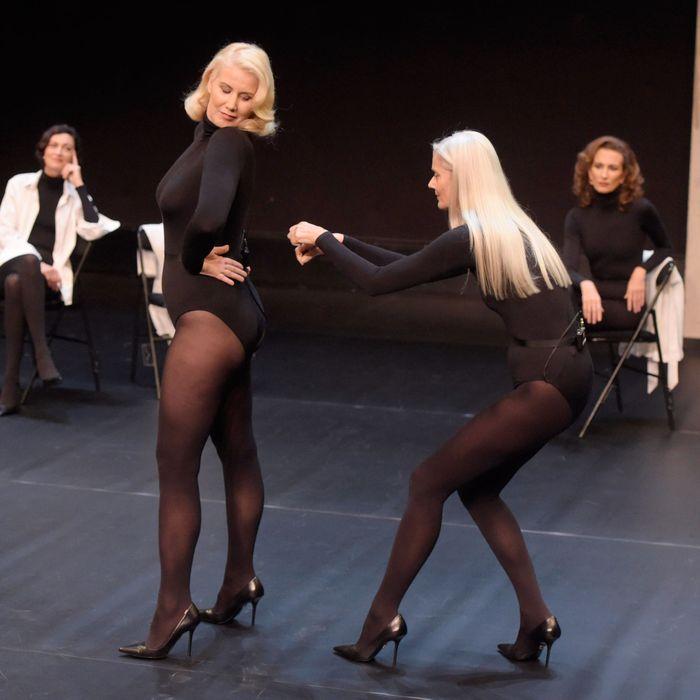 Models in Olivier Saillard's show.