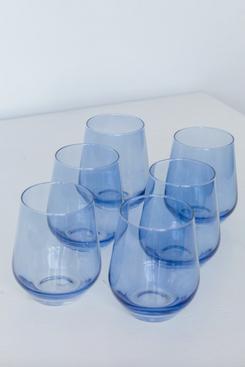 Estelle Colored Glass Stemless Wine Glasses
