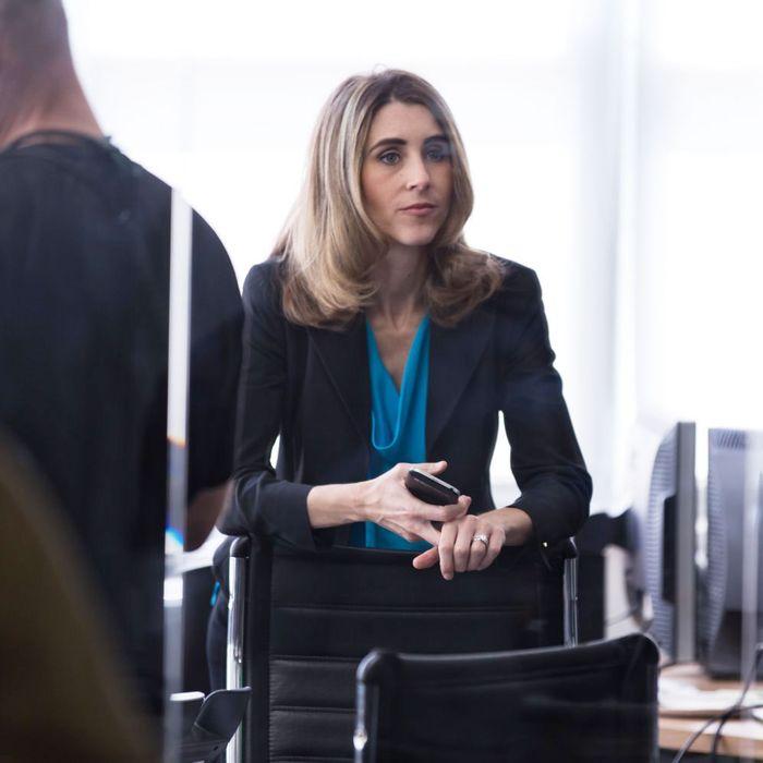 Sarah Megan Thomas in the new film <i>Equity</i>.