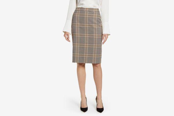 1. State Plaid Pencil Skirt