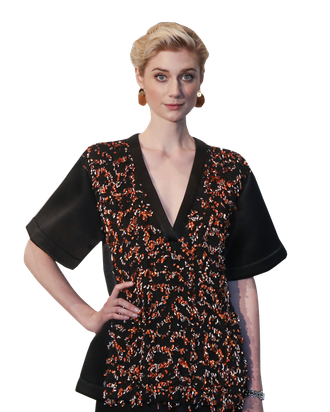 Elizabeth Debicki On Her Gold Painted Guardians Of The Galaxy Vol. 2 Villain