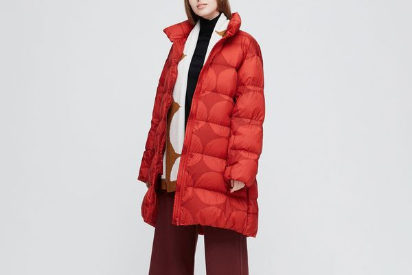 Uniqlo Women's Marimekko Ultra Light Down Cocoon Coat