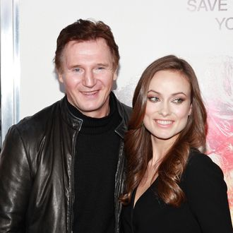 NEW YORK - NOVEMBER 09: Actors Liam Neeson and Olivia Wilde attend the premiere of