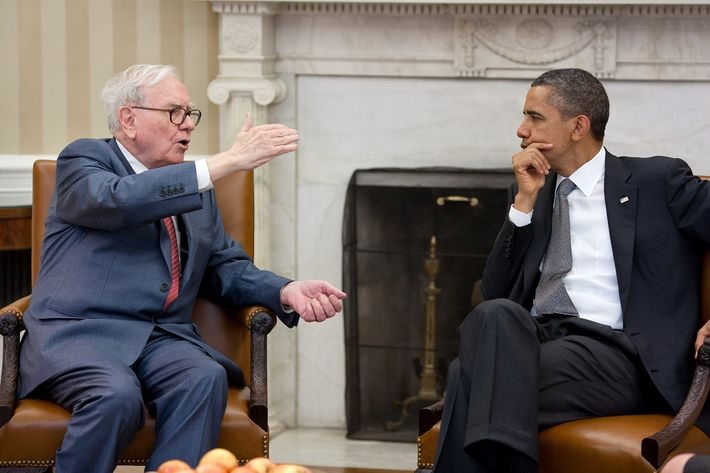 President Barack Obama meets with Warren Buffett, the Chairman of Berkshire Hathaway, in the Oval Office, July 18, 2011. (Official White House Photo by Pete Souza)  This official White House photograph is being made available only for publication by news organizations and/or for personal use printing by the subject(s) of the photograph. The photograph may not be manipulated in any way and may not be used in commercial or political materials, advertisements, emails, products, promotions that in any way suggests approval or endorsement of the President, the First Family, or the White House.President Barack Obama meets with Warren Buffett, the Chairman of Berkshire Hathaway, in the Oval Office, July 18, 2011. (Official White House Photo by Pete Souza)  This official White House photograph is being made available only for publication by news organizations and/or for personal use printing by the subject(s) of the photograph. The photograph may not be manipulated in any way and may not be used in commercial or political materials, advertisements, emails, products, promotions that in any way suggests approval or endorsement of the President, the First Family, or the White House.