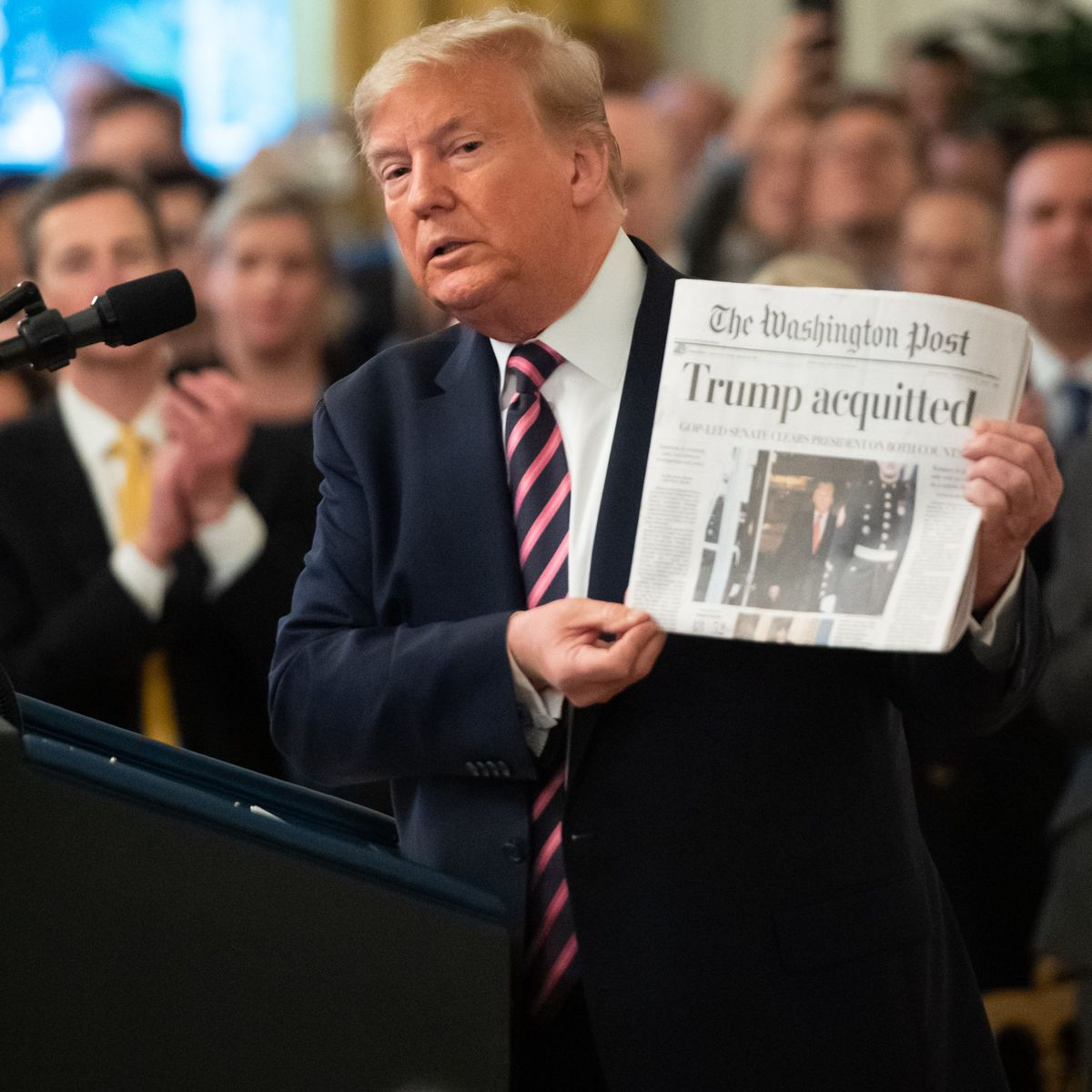Witnesses 2020 THE NEW YORK TIMES FEBRUARY 8 Acquittal NEWSPAPER Trump