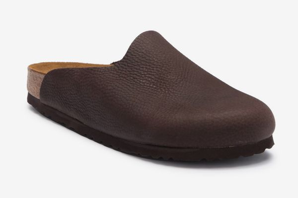 Birkenstock Amsterdam Slip-on Leather Clog, Brown