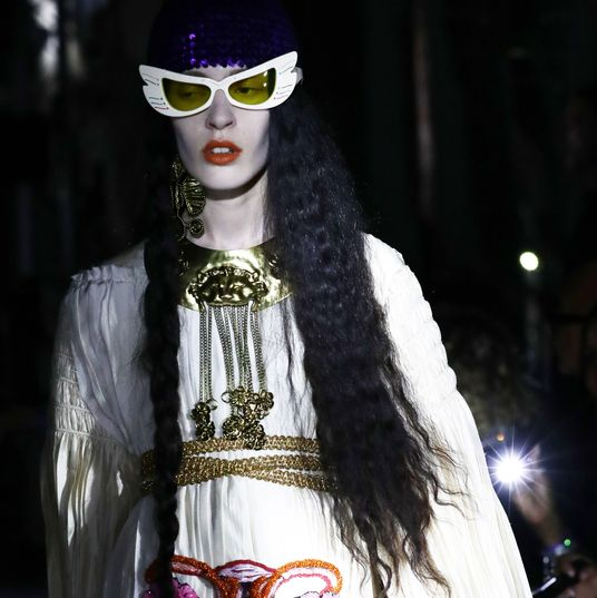 44357eb39 Gucci Made a Pro-Choice Statement on the Runway At its resort 2020 show in  Rome.