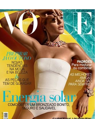 Doutzen Kroes for <em>Vogue</em> Portugal.