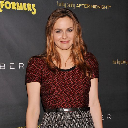 "NEW YORK, NY - NOVEMBER 14:  Actress Alicia Silverstone attends the after party for the opening night of ""The Performers"" on Broadway at Espace on November 14, 2012 in New York City.  (Photo by Stephen Lovekin/Getty Images)"