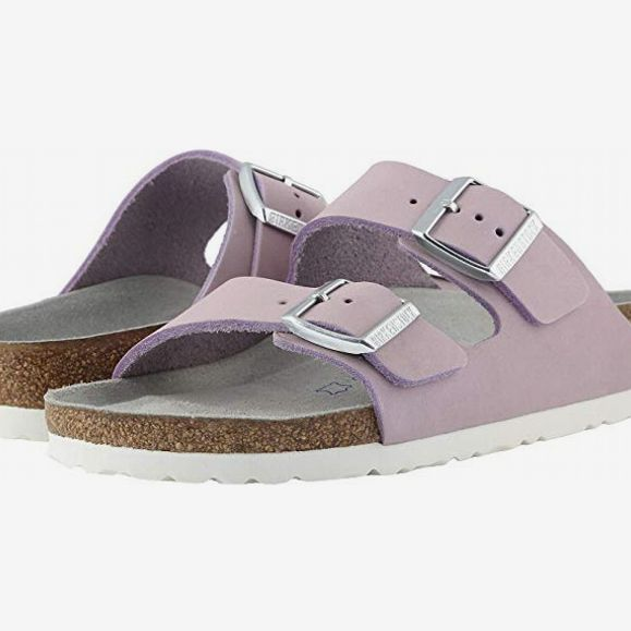birkenstock arizona lilac nubuck - strategist birkenstock sale zappos