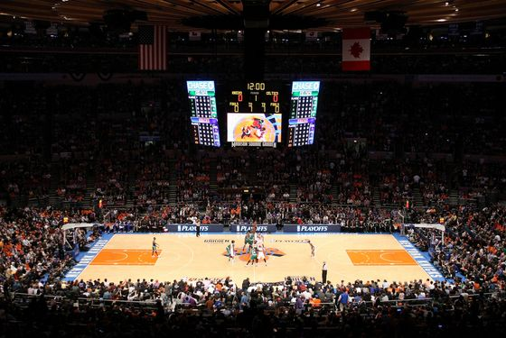 NEW YORK, NY - APRIL 22:  A general view of the opening tip-off between the New York Knicks and the Boston Celtics in Game Three of the Eastern Conference Quarterfinals in the 2011 NBA Playoffs on April 22, 2011 at Madison Square Garden in New York City.  NOTE TO USER: User expressly acknowledges and agrees that, by downloading and or using this photograph, User is consenting to the terms and conditions of the Getty Images License Agreement.  (Photo by Chris Chambers/Getty Images)