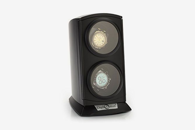 Diplomat Matte Black Finish Watch Winder