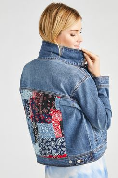 Scoop Vintage Bandana Patch Jacket