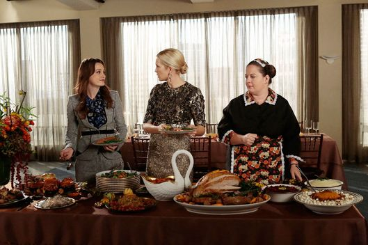 "GOSSIP GIRL-- ""It's Really Complicated"" -- Pictured (L-R): Leighton Meester as Blair Waldorf, Kelly Rutherford as Lily Van Der Woodsen and Zuzanna Szadkowski as Dorota"