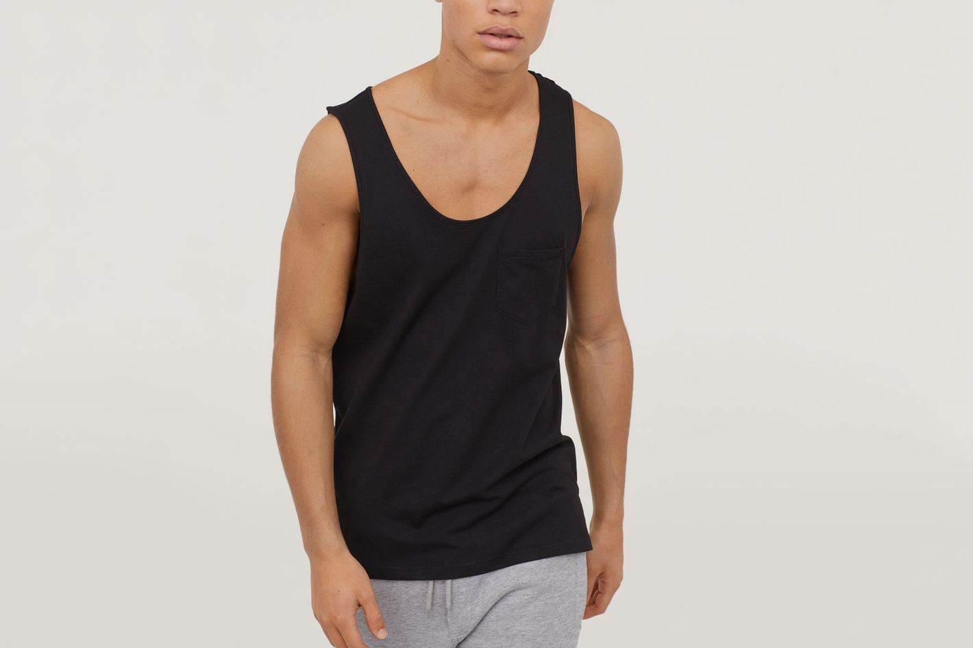 H&M men's tank top with pocket