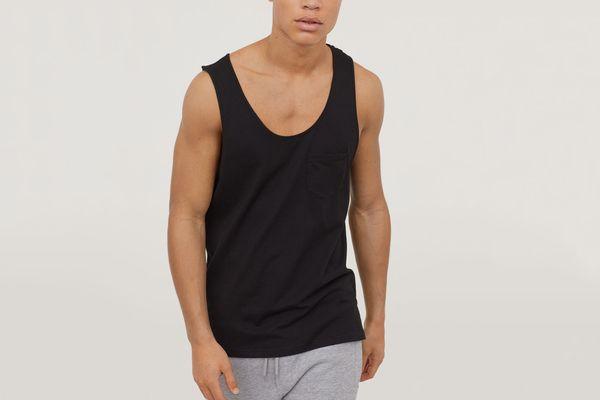 H&M men's tank top with pocket
