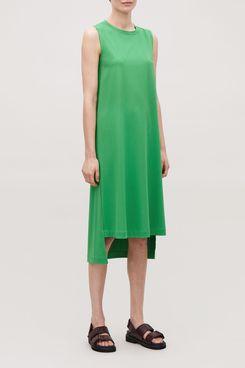 Long Jersey Sleeveless Dress
