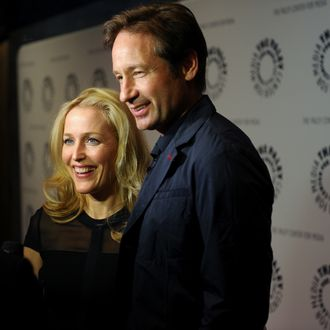 (L-R) Gillian Anderson and David Duchovny attend The Truth Is Here: David Duchovny And Gillian Anderson On