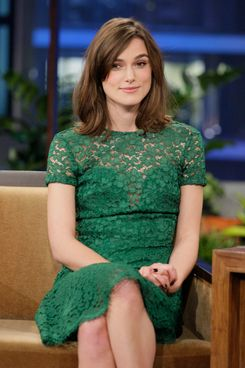 THE TONIGHT SHOW WITH JAY LENO --  Episode 4351 -- Pictured: Actress Keira Knightley during an interview on November 13, 2012 -- (Photo by: Paul Drinkwater/NBC/NBCU Photo Bank)