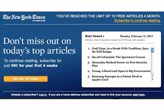 New York Times Closes Every Cheapskate's Favorite Paywall Loophole