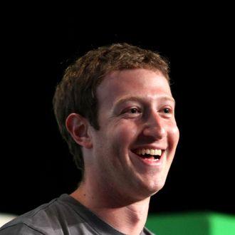 Facebook CEO Mark Zuckerberg speaks to the TechCrunch Disrupt SF 2012 conference on September 11, 2012 in San Francisco, California.