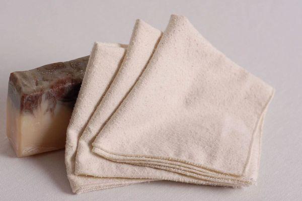 AdorabellaBaby Raw Silk Noil Washcloths (Set of 3)