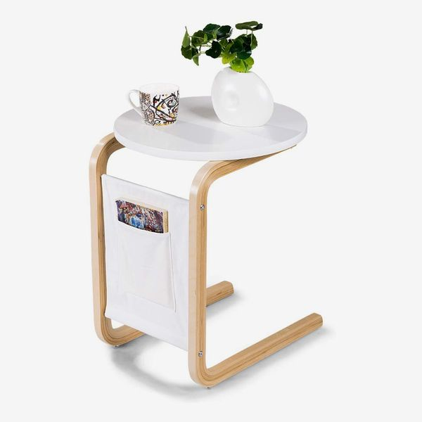 Tangkula Side Table, White