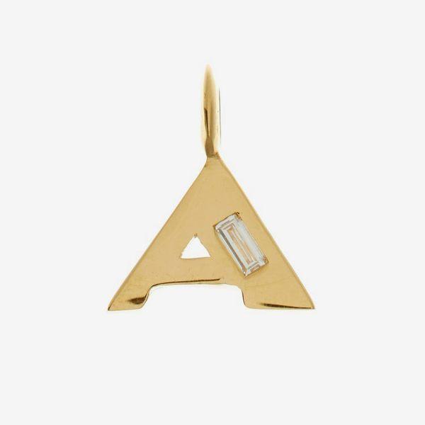 Lizzie Mandler Deco Diamond & Gold Alphabet Charm