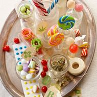 Brightly colored candies infused with marijuana.