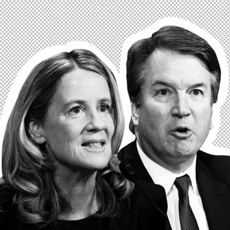 Christine Blasey Ford and Brett Kavanaugh.