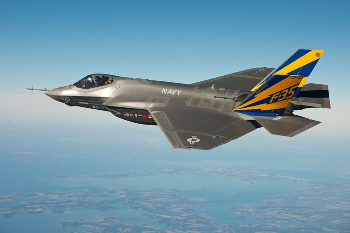 Lockheed falls as Trump tweets that F-35 program is costly