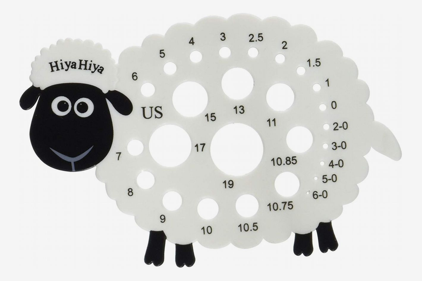 HiyaHiya Knitting Needle Gauge - Sheep
