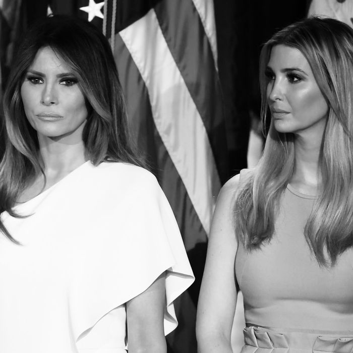 Melania Trump and Ivanka Trump.