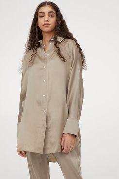 Mulberry Silk Shirt Tunic
