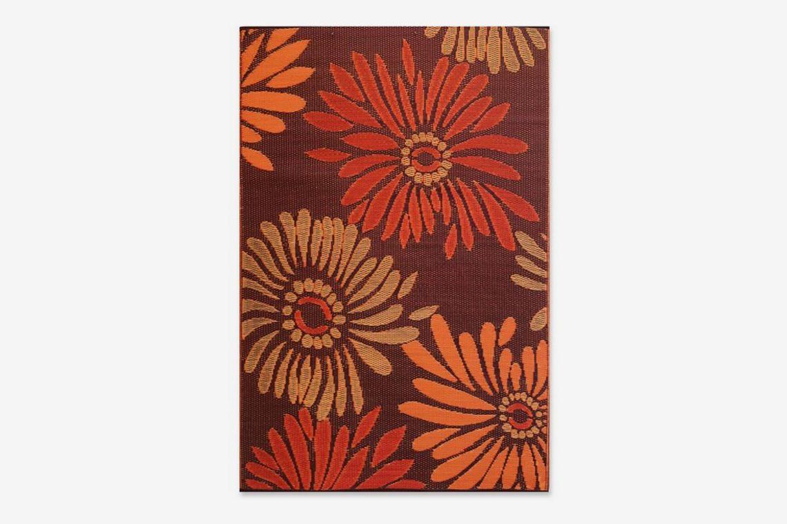 Mad Mats Daisy Indoor/Outdoor Floor Mat (4' x 6', Rust)
