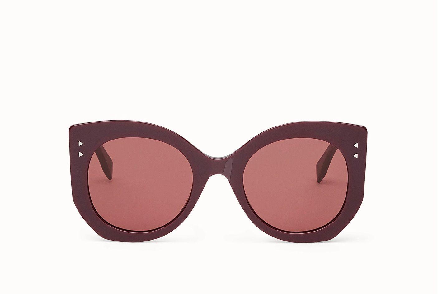 PEEKABOO Burgundy sunglasses