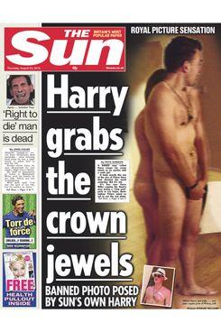 The Sun's replica of the Prince Harry nude photo.