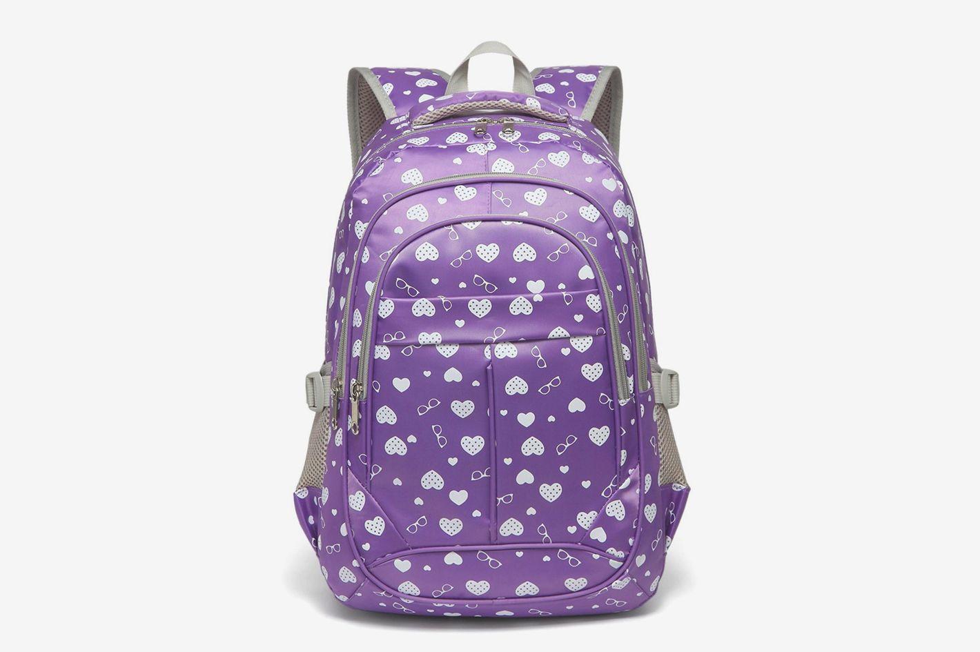 Bluefairy Hearts Print School Backpack