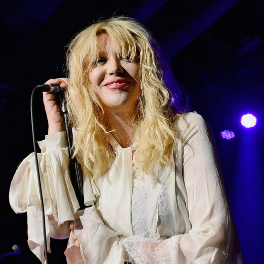 LAS VEGAS, NV - AUGUST 22:  Recording artist Courtney Love performs at Vinyl inside the Hard Rock Hotel & Casino during the venue's anniversary celebration on August 22, 2013 in Las Vegas, Nevada.  (Photo by Ethan Miller/Getty Images)