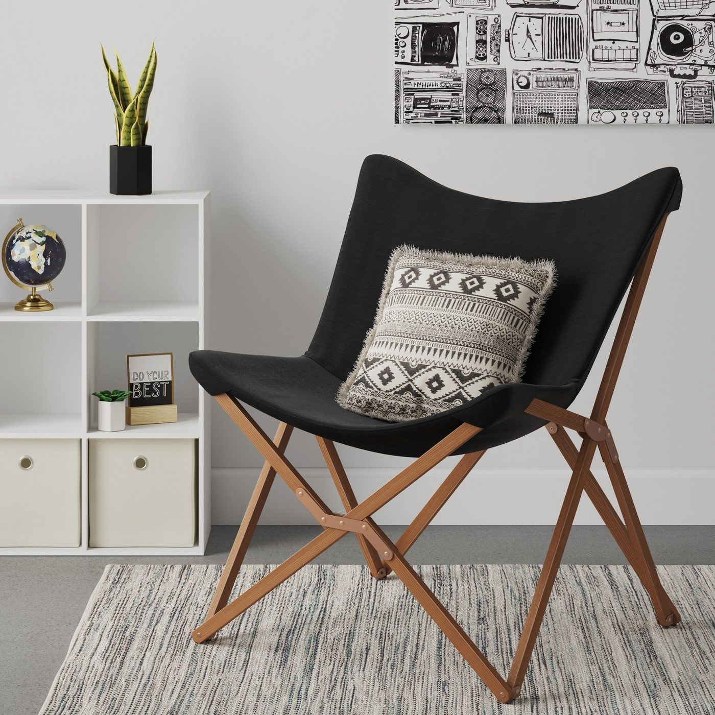 Room Essentials Wood Butterfly Chair