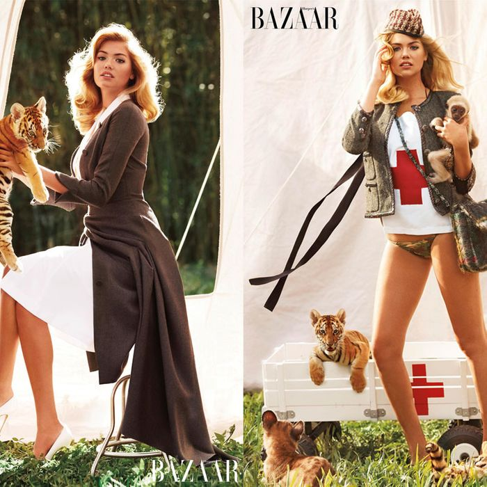Kate Upton and creatures.